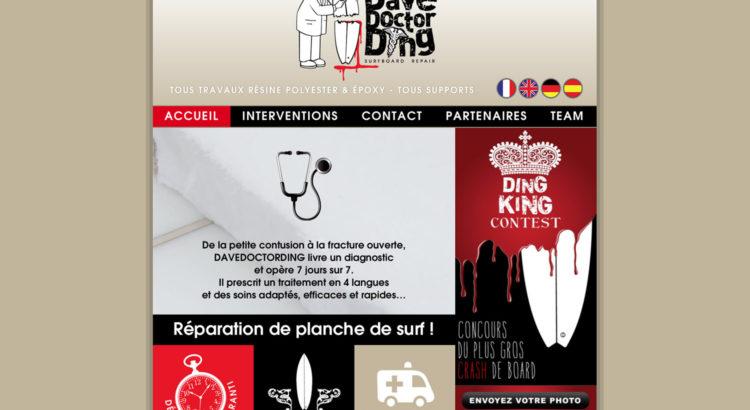www.davedoctording.com - www.inflatabedog.com web design