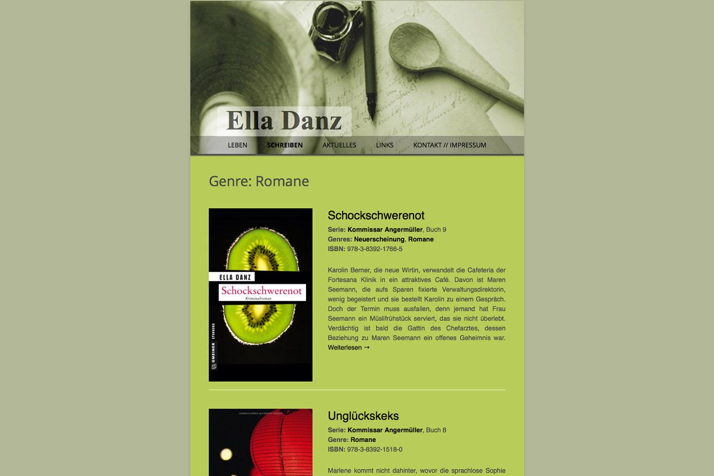www.elladanz.de - www.inflatabedog.com web design