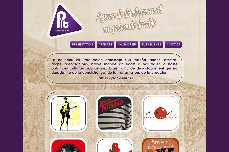 www.pitprod.com - www.inflatabedog.com web design