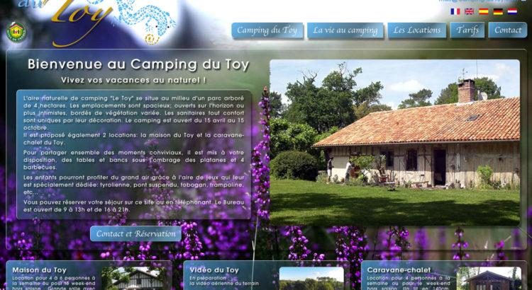 www.camping-du-toy.com - www.inflatabedog.com web design