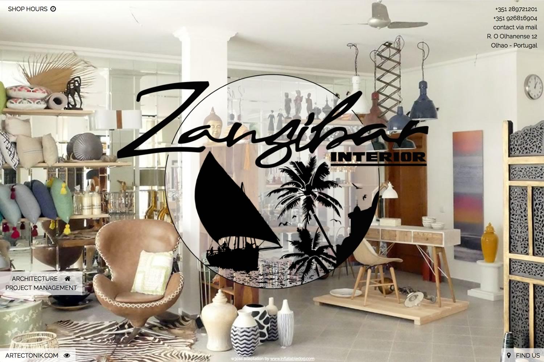 www.zansibar.com - www.inflatabledog.com web design